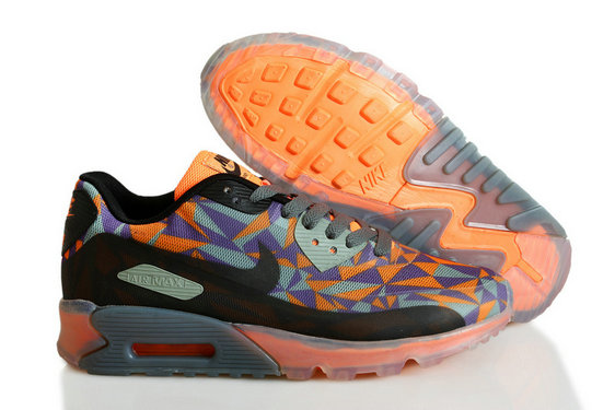 Cheap Wholesale Nike Air Maxs 90 ICE Orange Black Purple