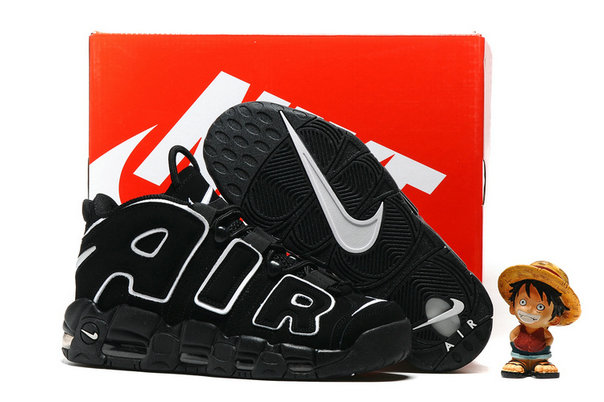 Cheap Wholesale Nike Air More Uptempo Black White