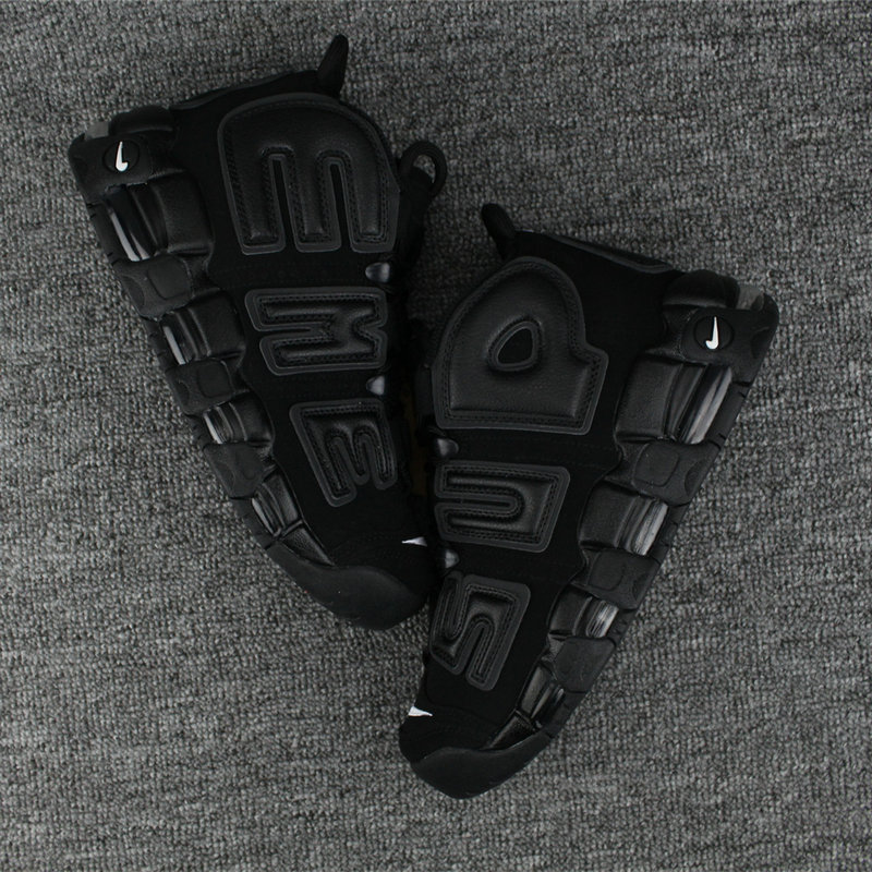 Cheap Wholesale Nike Air More Uptempo Blackout Gets Reflective Treatment