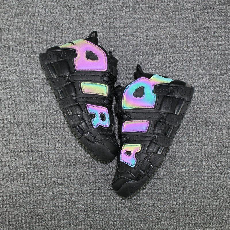 Cheap Wholesale Nike Air More Uptempo Colorway Rainbow Black