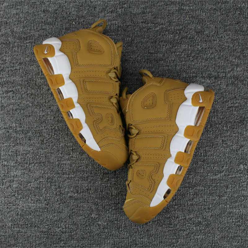 Cheap Wholesale Nike Air More Uptempo Colorway Wheat White