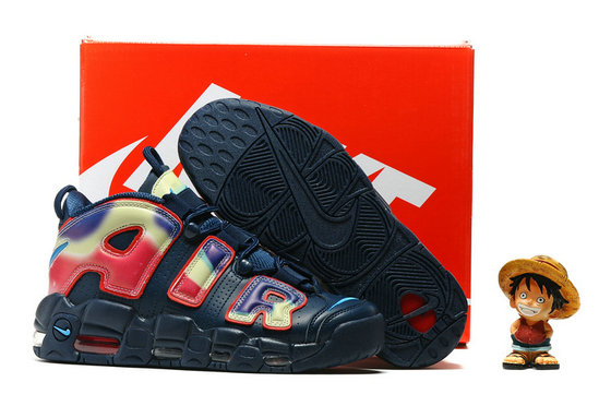 Cheap Wholesale Nike Air More Uptempo OG Navy Blue Colorful