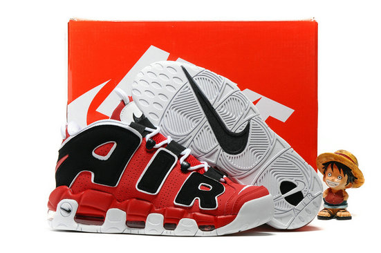 Cheap Wholesale Nike Air More Uptempo OG Red Black White