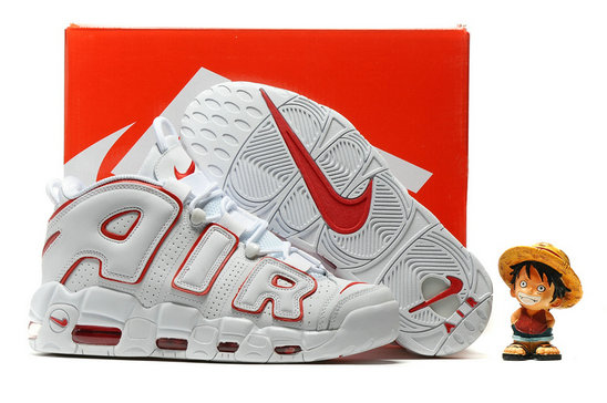 Cheap Wholesale Nike Air More Uptempo OG Red White