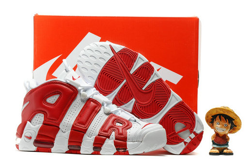 Cheap Wholesale Nike Air More Uptempo OG White Red
