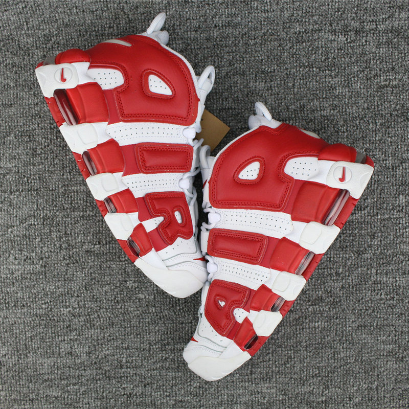 Cheap Wholesale Nike Air More Uptempo White Varsity Red