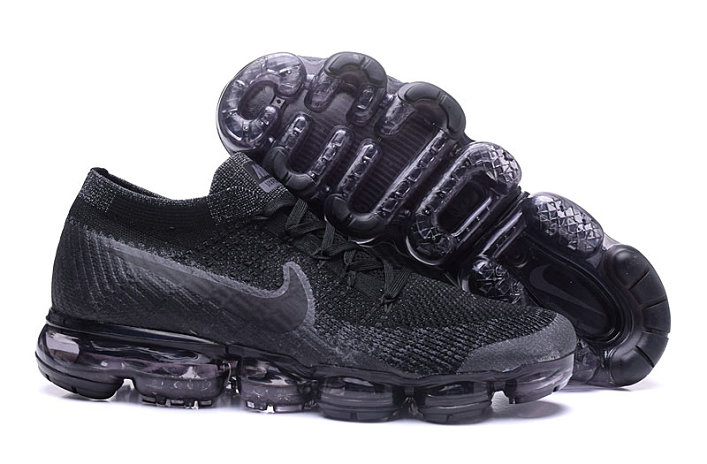 Cheap Wholesale Nike Air VaporMax 2017 Flyknit Womens Black Deep Grey