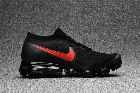 Cheap Wholesale Nike Air VaporMax 2017 Flyknit Womens Black Fire Red