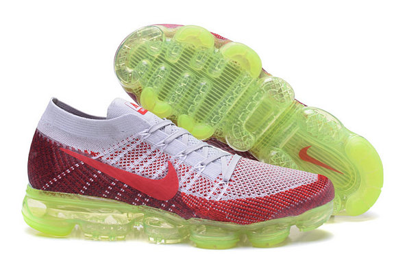Cheap Wholesale Nike Air VaporMax 2017 Flyknit Womens Grey Red Green