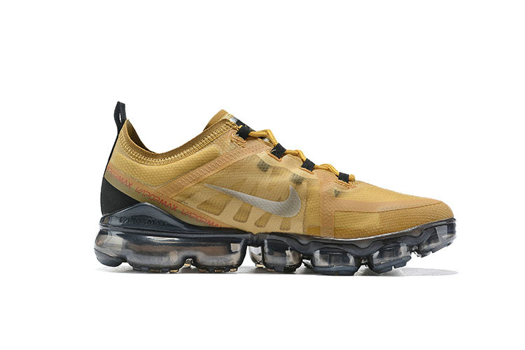 Wholesale Cheap Nike Air VaporMax 2019 Premium Golden Grey Black