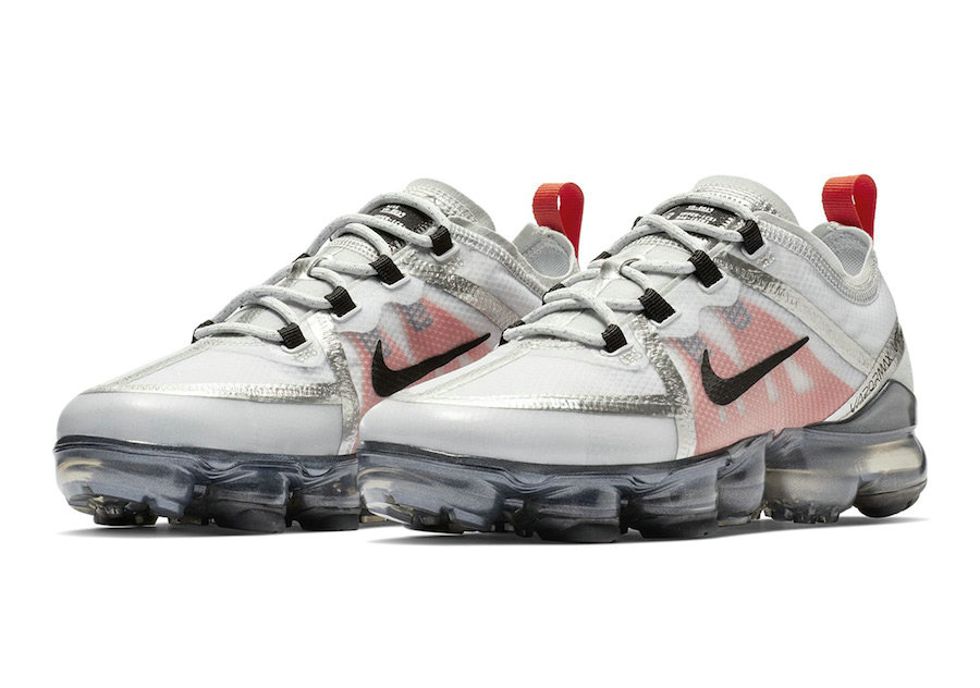 Wholesale Cheap Nike Air VaporMax 2019 Premium Silver White Red Black