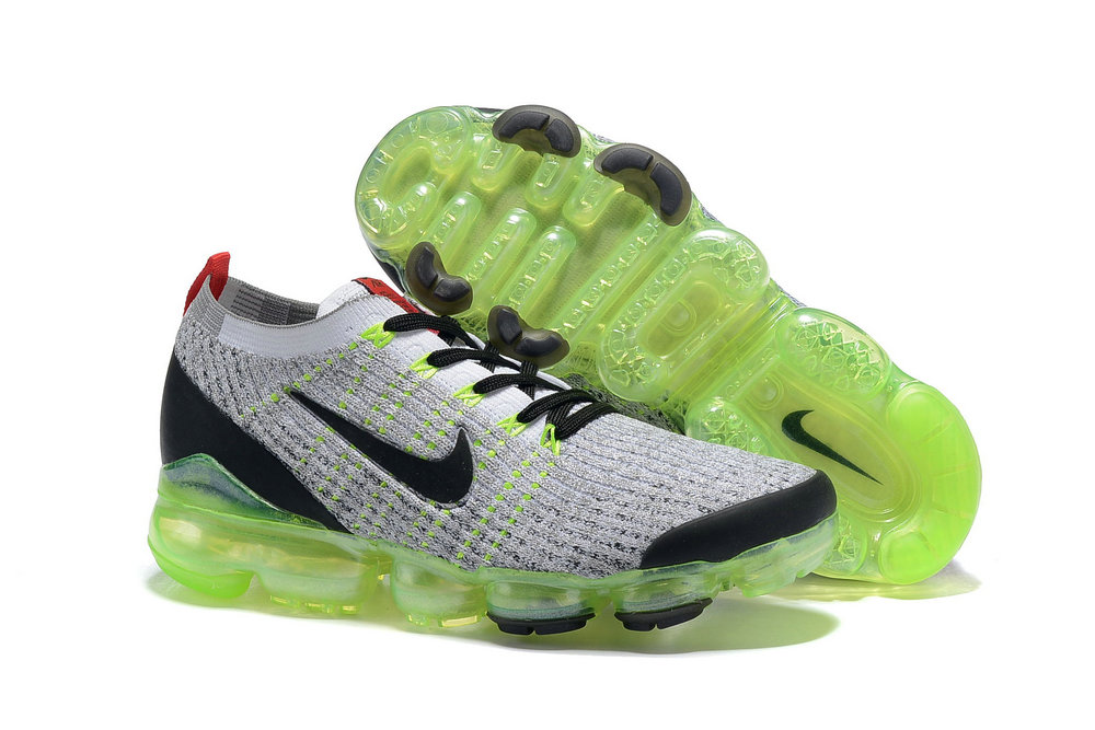 Wholesale Cheap Nike Air VaporMax 3.0 White-Black-Volt-Bright Crimson-Metallic Silver AJ6900-100