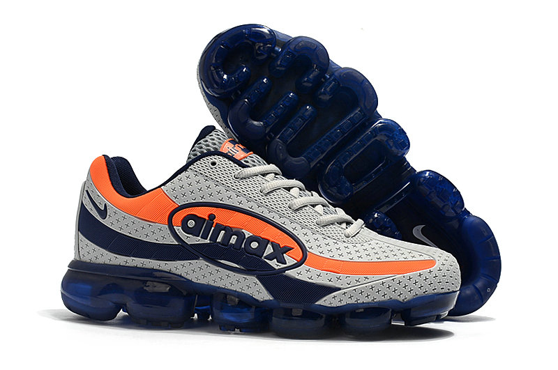 Wholesale Cheap Nike Air VaporMax 95 Grey Deep Blue Orange