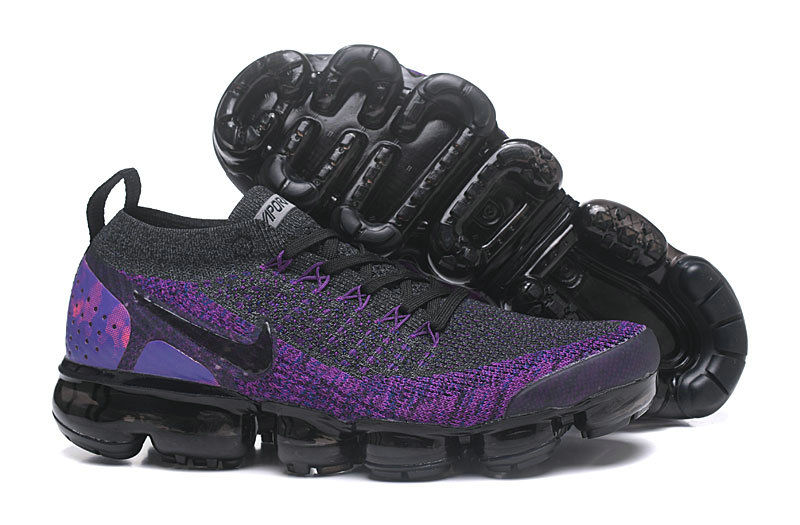 Wholesale Cheap Nike Air VaporMax Flyknit 2 Dark Grey Purple 942842 600
