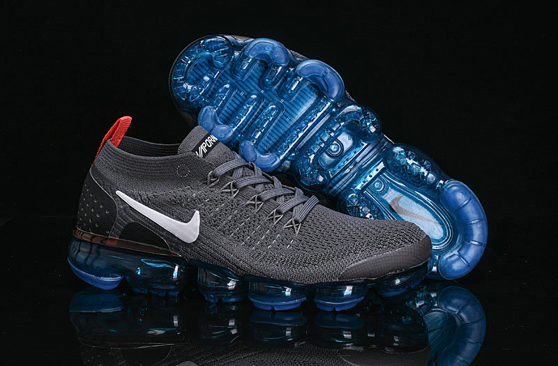 Wholesale Cheap Nike Air VaporMax Flyknit 2.0 Shoes Deep Grey Black Blue