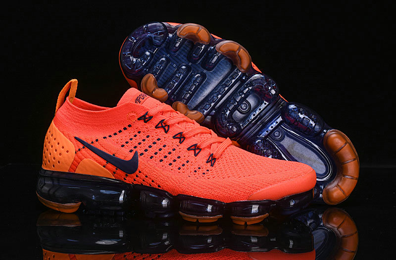 Wholesale Cheap Nike Air VaporMax Flyknit 2.0 Womens Shoes Navy Blue Orange