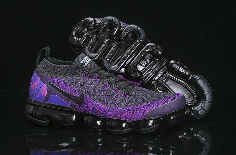 Wholesale Cheap Nike Air VaporMax Flyknit 2.0 Womens Shoes Purple Black
