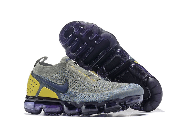 Wholesale Cheap Nike Air VaporMax Flyknit 2.0 Womens Shoes Yellow Grey Black
