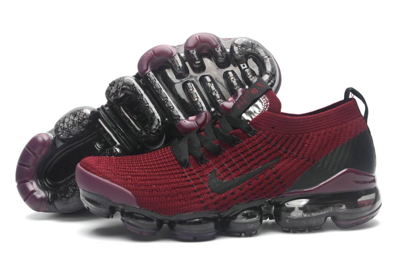 Wholesale Cheap Nike Air VaporMax Flyknit 3.0 Deep Red Black Purple