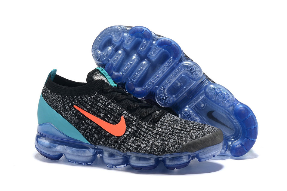 Wholesale Cheap Nike Air VaporMax Flyknit 3.0 Orange Jade Black Grey