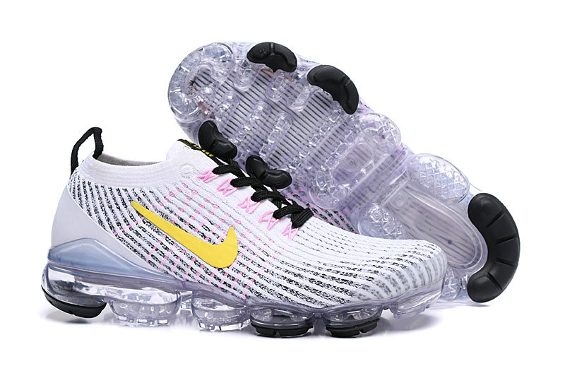 Wholesale Cheap Nike Air VaporMax Flyknit 3.0 White Dynamic Yellow Hyper Turquoise AJ6900-103
