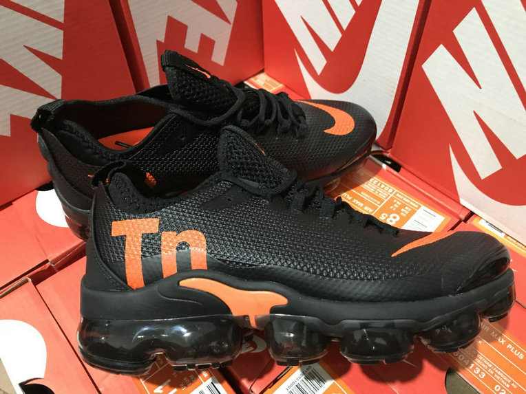 wholesale dealer 50f7c db2c0 Wholesale Cheap Nike Air VaporMax Plus TN Black Orange ...