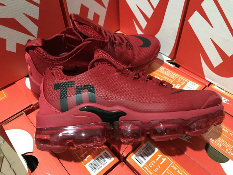 Wholesale Cheap Nike Air VaporMax Plus TN Wine Red Black