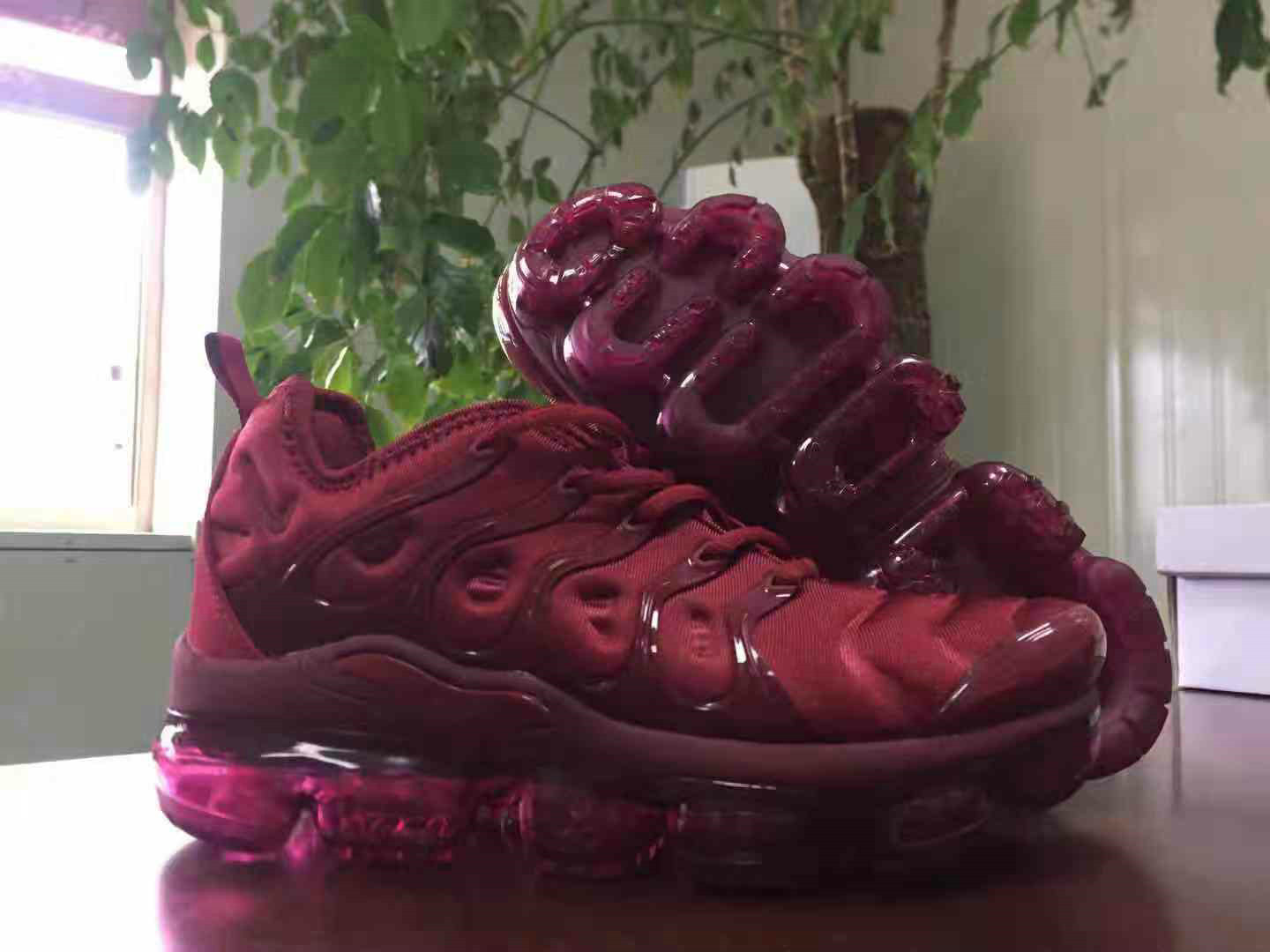 Cheap Wholesale Nike Air VaporMax Plus Deep Red Black - China ... 9691c828c