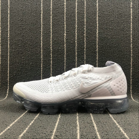 Wholesale Cheap Nike Air Vapormax FLYKNIT 2.0 942842-105 White Vast Grey Blanc Gris Infini Blanc