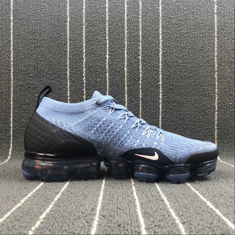 Wholesale Cheap Nike Air Vapormax FLYKNIT 2.0 942843-401 Work Blue Light Red Bleu Travail Rougeatre