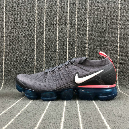 Wholesale Cheap Nike Air Vapormax FLYKNIT 2.0 Mens 942842-009 Thunder Grey White Geode Teal Gris Tonnerre Blanc