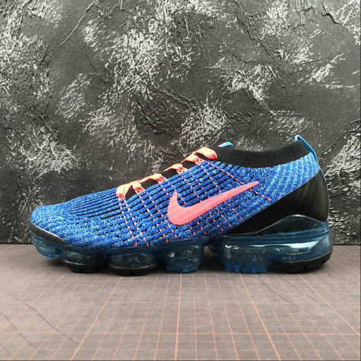 Wholesale Cheap Nike Air Vapormax FLYKNIT 3 2018 Blue Fury Flash Crimson Bleu Electrique 2 AJ6900-401