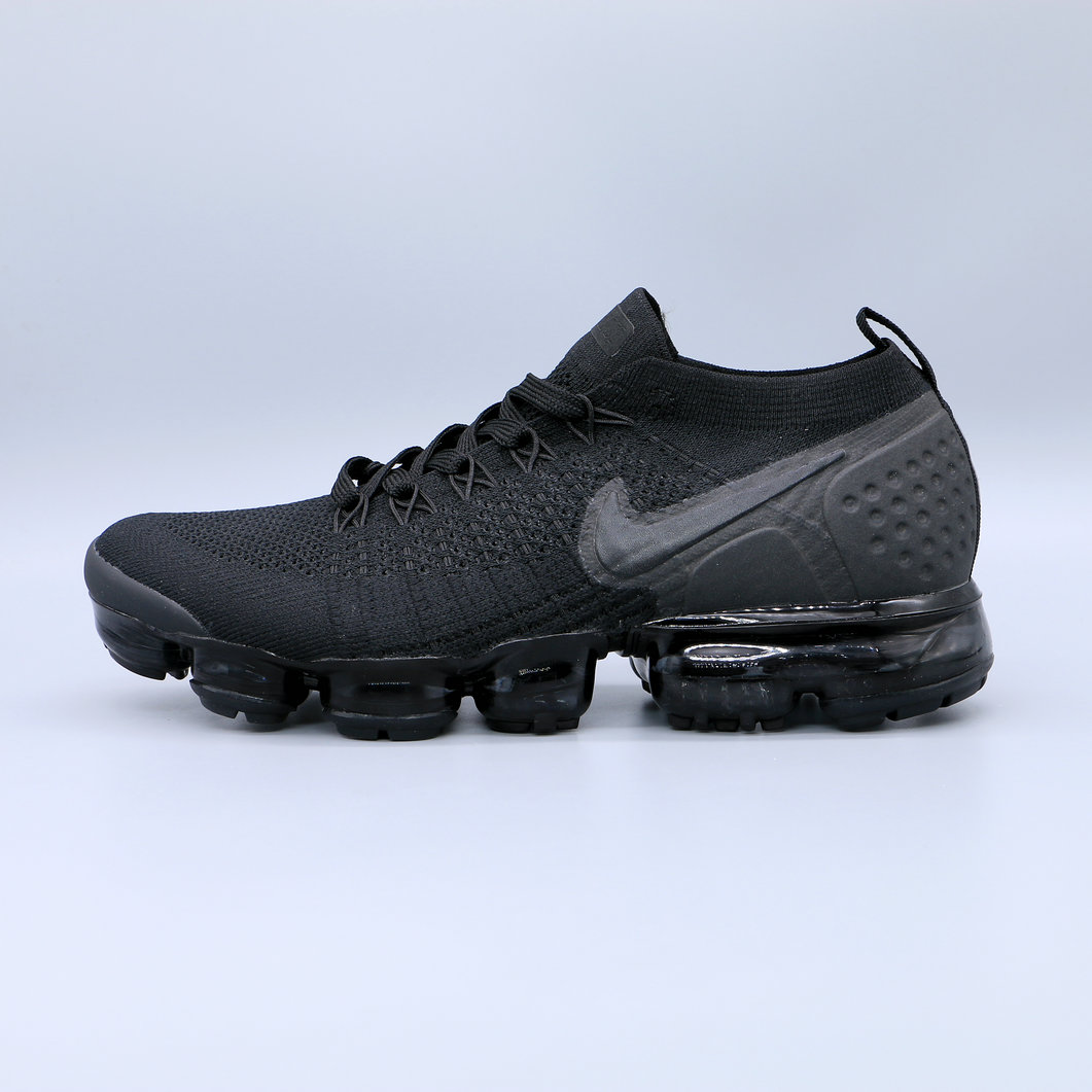 Wholesale Cheap Nike Air Vapormax Flyknit 2.0 Triple Black Noir Blanc