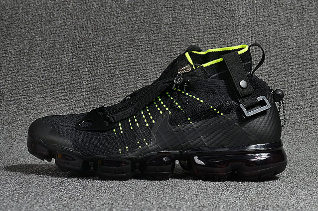Wholesale Cheap Nike Air Vapormax Flyknit Zipper Fluorescent Green Black