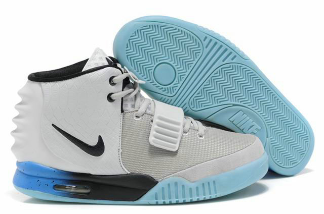 Cheap Wholesale Nike Air Yeezy 2 Blue White Black