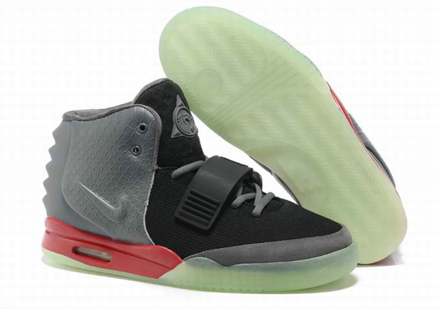 Cheap Wholesale Nike Air Yeezy 2 Grey Black Red