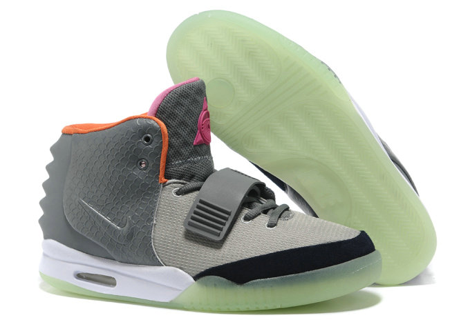 Cheap Wholesale Nike Air Yeezy 2 Grey Pink Orange