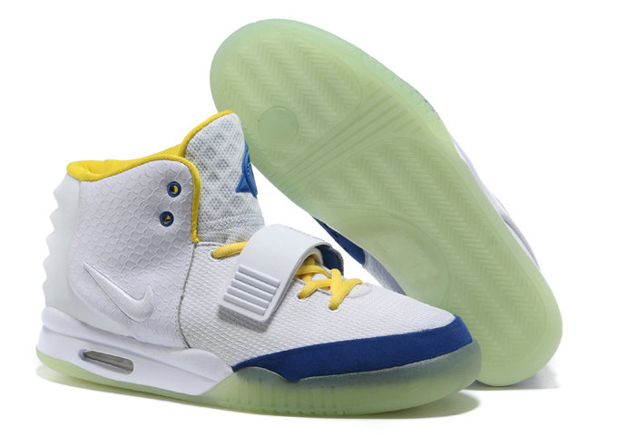Cheap Wholesale Nike Air Yeezy 2 Yellow Blue White