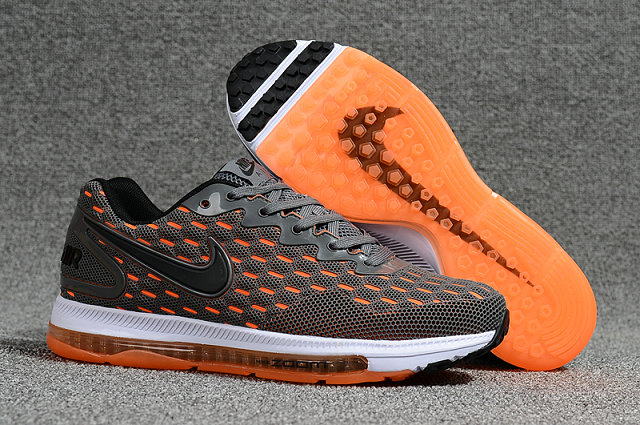 Cheap Wholesale Nike Air Zoom All Out Flyknit Grey Orange White Running Shoes