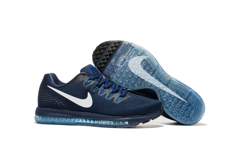 Cheap Wholesale Nike Air Zoom All Out Flyknit Mens Blue Grey White