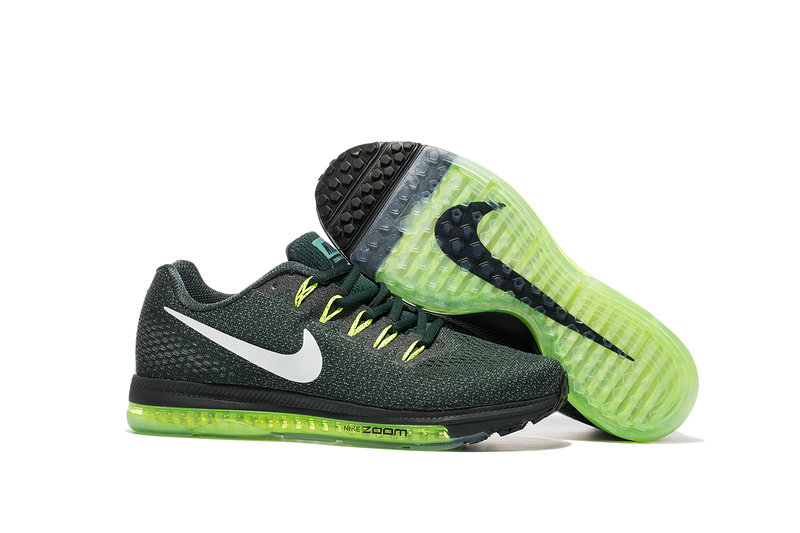 Cheap Wholesale Nike Air Zoom All Out Flyknit Mens Grass Green White Black