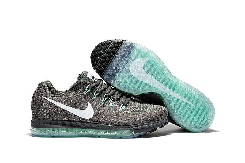 Cheap Wholesale Nike Air Zoom All Out Flyknit Mens Grey White Grass Green