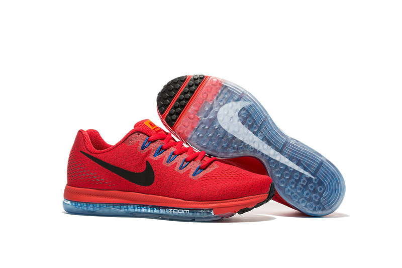 Cheap Wholesale Nike Air Zoom All Out Flyknit Mens Red Blue Grey