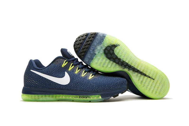 Cheap Wholesale Nike Air Zoom All Out Flyknit Mens Yellow Green Navy Blue White