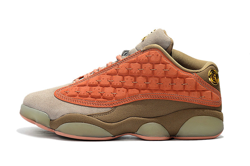 Wholesale Cheap Nike Clot x Air Jordan 13 Low AT3102-200 Sepia Stone Canteen-Terra Blush