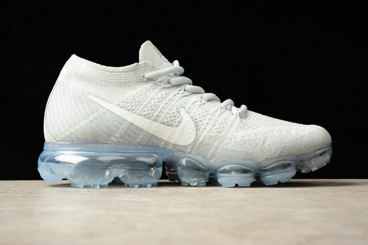 Cheap Wholesale Nike Flyknit Air VaporMax Blue White Grey Sneakers