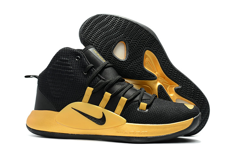 Cheap Wholesale Nike Hyperdunk 2018 For Womens Gold Black
