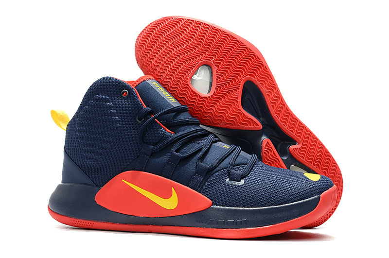 Cheap Wholesale Nike Hyperdunk 2018 Mens Navy Blue Red Yellow