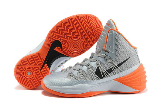 Cheap Wholesale Nike Hyperdunk Women Grey Black Orange