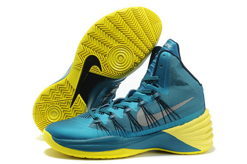 Cheap Wholesale Nike Hyperdunk Women Yellow Blue Black